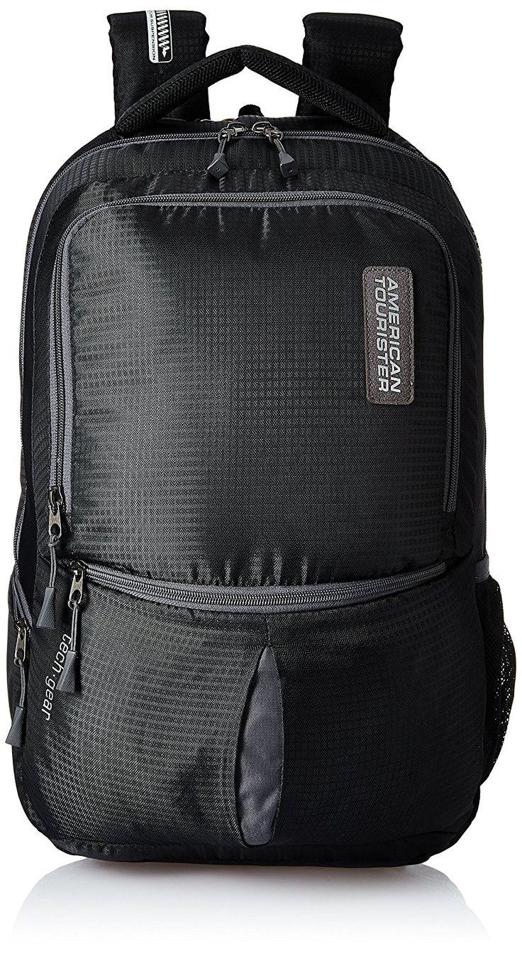 American Tourister Polyester 28 Ltrs Black Laptop Backpack (AMT TECH GEAR LAPTOP BP 01-BLK)  laptop bags for women | laptop bags for women business | laptop bags diy | laptop bags men | laptop bags for women fashion | GRACESHIP Womens Laptop Bags | Laptop Bags | Women In Business Laptop Bags | Laptop Bags | Laptop Bags & Cases | Laptop bags |