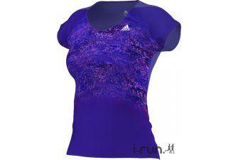 adidas Tee-shirt Adizero ClimaCool W pas cher - Vêtements femme running Manches courtes en promo