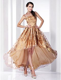 TS+Couture+Cocktail+Party+Prom+Formal+Evening+Holiday+Dress+-+Elegant+Celebrity+Style+A-line+Princess+High+NeckAsymmetrical+Sweep+/+Brush+–+AUD+$+407.55