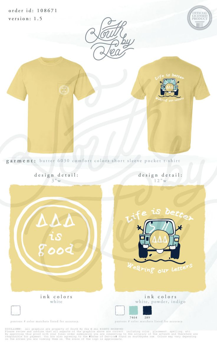 South by Sea Tri Delta Sorority Shirt                                                                                                                                                                                 More