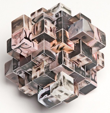 This is an example of one of Rebecca Chew's 3D photographs. Made by folding paper. Her work is used for magazines and exhibitions.