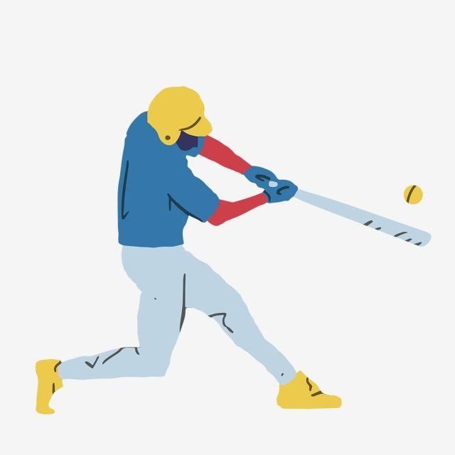 Un Jugador De Beisbol De Dibujos Animados Lindo Jugadores De Beisbol Beisbol Equipos De Beisbol