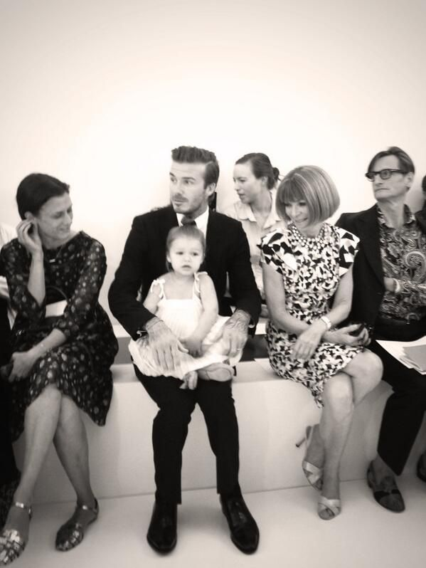 Click here to see what David Beckham had to say about Harper and Anna Wintour.