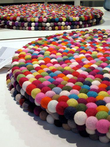 Tapete de Pompons Ideia de cores