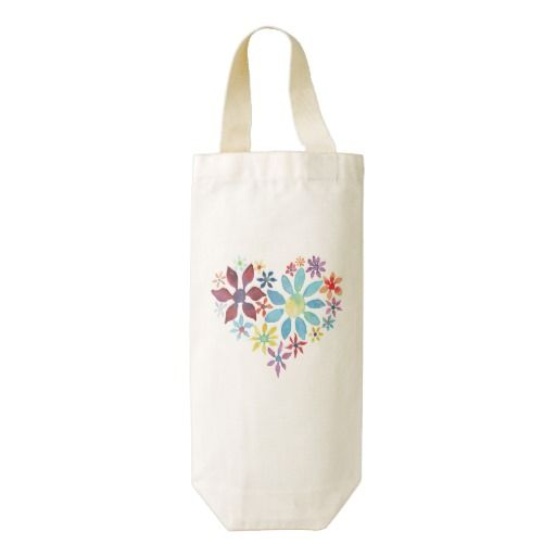 Zazzle Heart Wine Bags -  sale of this products help support LIFE Line in their mission to empower Kenyan mothers of special needs children, to be self-sustaining. Each product is handmade in Kenya and product sales directly benefit the Malaika Mums, many of whom have been shunned by society because of their special needs children.
