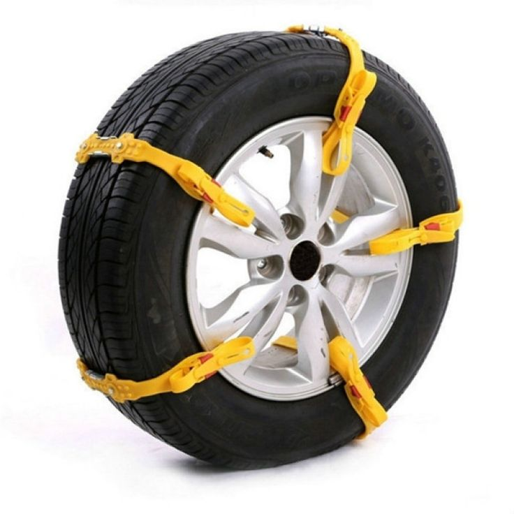 Tendon Rubber Tire Anti-skid Belt Snow Chain Safety Kit for Car SUV Truck Yellow
