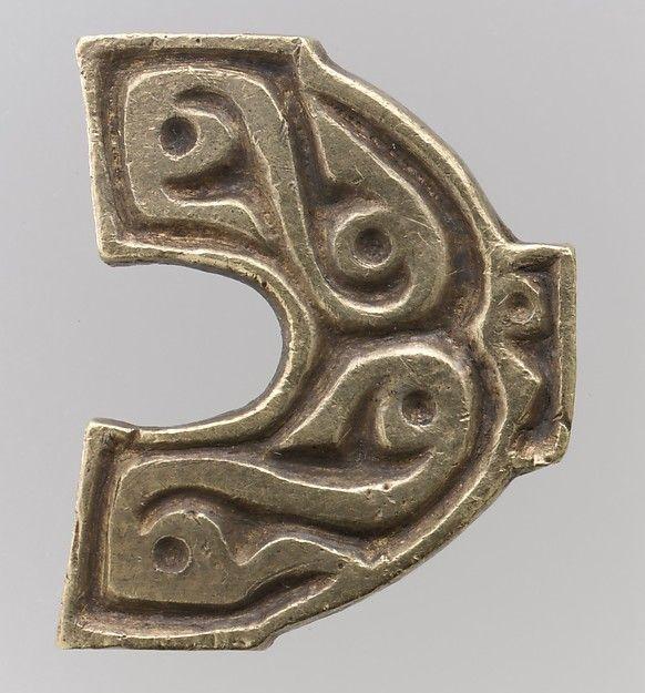 Gold Belt-Hole Guard  Date:700s Culture:Avar Medium:Gold-The treasure contains…