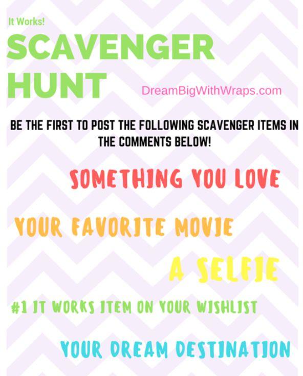 Scavenger Hunt - Online Facebook It Works! Party Game