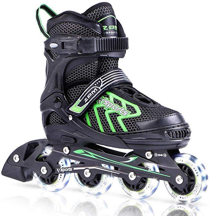 Beginner Roller Skates for Girls 2PM SPORTS Torinx Orange//Red//Green Black Boys Adjustable Inline Skates Fun Roller Blades for Kids Men and Ladies