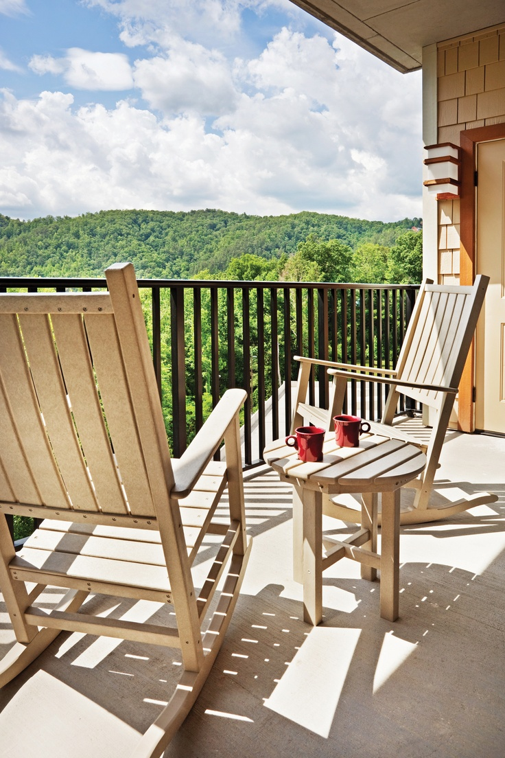 A balcony view of the Smoky Mountains at Holiday Inn Club Vacations Smoky Mountain Resort.