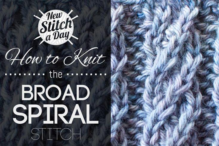 How to Knit the Broad Spiral Rib Stitch | Pattern/Charts ...