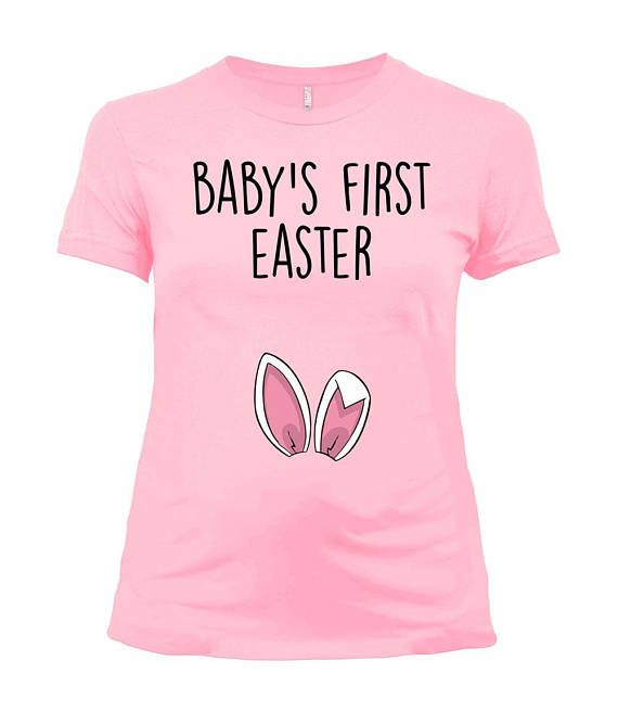 Easter Maternity Shirt Pregnancy T Shirt Baby Reveal Spring