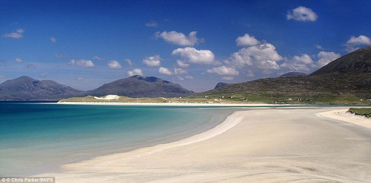 Losgaintir Beach in the Outer Hebrides is a stunning estuary that has been filled with san...