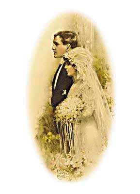 wedding couple from yesteryear
