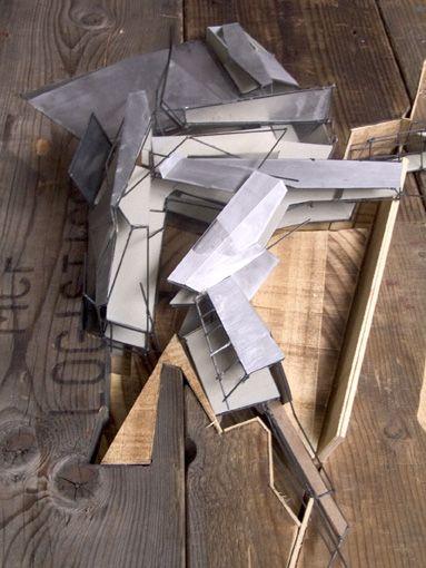 Top view of the model showing the fragmentary roof plan. - Sebastiaan Hermans