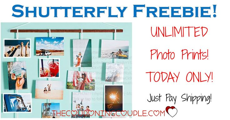 HOT FREEBIE! Get UNLIMITED FREE Photo Prints from Shutterfly! Great for all those photos on your phone or computer, for scrapbooks, for sharing! GO NOW!  Click the link below to get all of the details ► http://www.thecouponingcouple.com/shutterfly-101-free-prints-just-pay-shipping/ #Coupons #Couponing #CouponCommunity  Visit us at http://www.thecouponingcouple.com for more great posts!