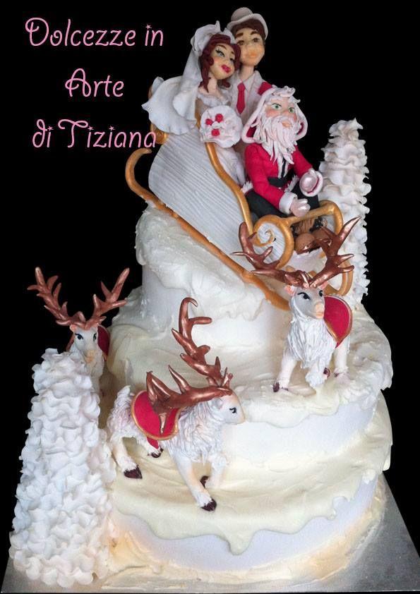 wedding cake con babbo natale