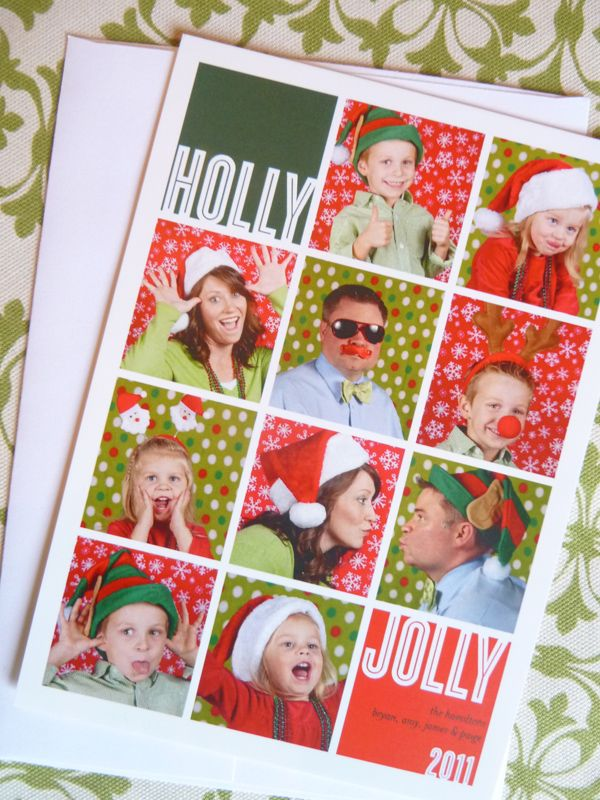 Photo Booth Christmas Card- what a fun idea!  From tipjunkie.com