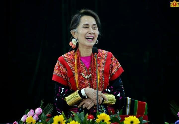 Daw Aung San Suu Kyi arrived Chin State, Myanmar | Chin state, Myanmar, Chin