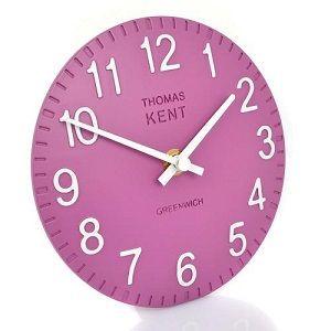 Thomas Kent Cotswold Mantel Clock Purple Orchid - 6 Inch