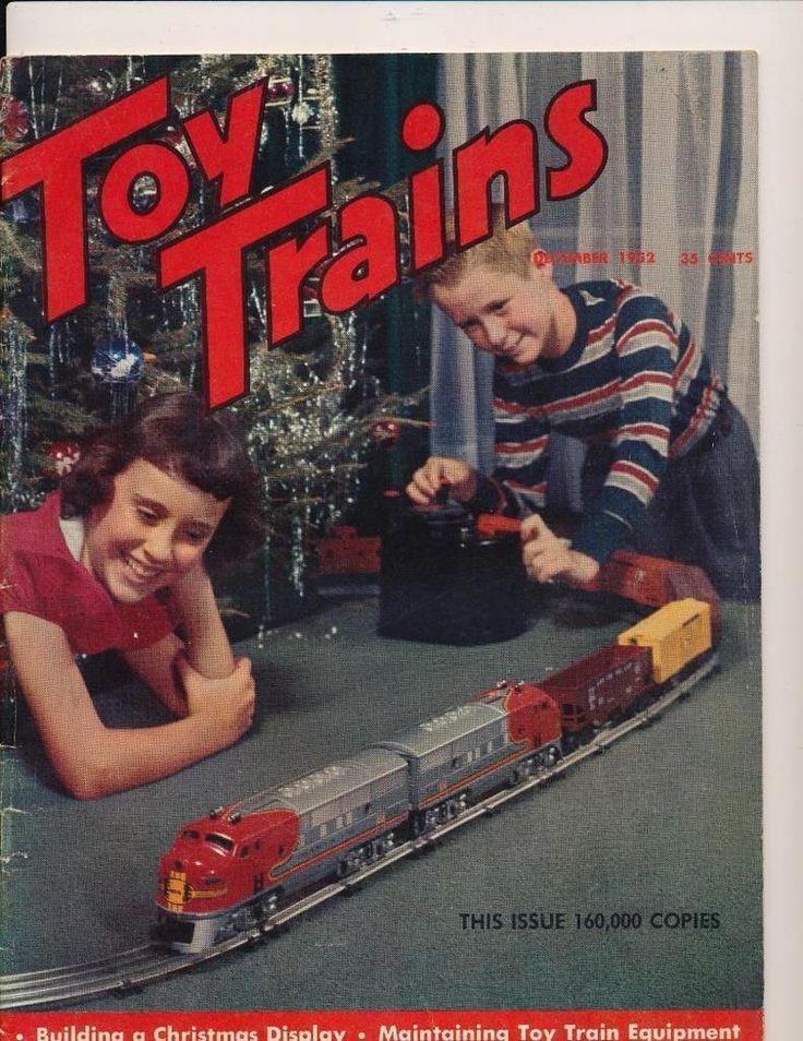 Vintage TOY TRAINS Magazine - December, 1952 - #vintagetoys