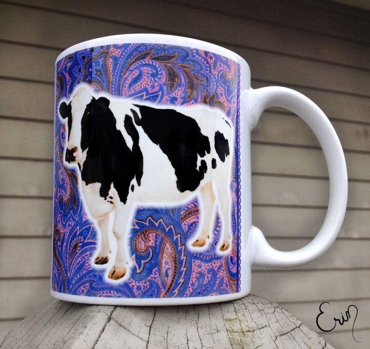 """Cow """"Mooo"""" Mug by VermontLuna on Etsy https://www.etsy.com/listing/209762067/cow-mooo-mug"""
