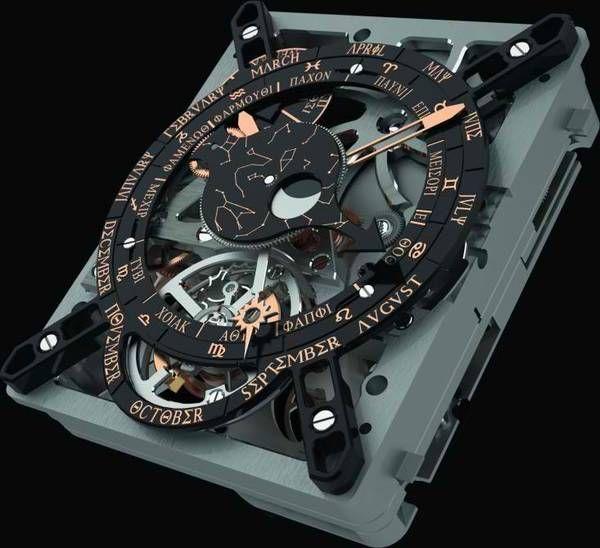Antikythera mechanism in awristwatch