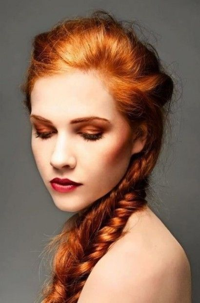 School redhead braids blow hot