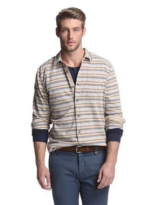 Just A Cheap Shirt Men's Woven Stripe Shirt
