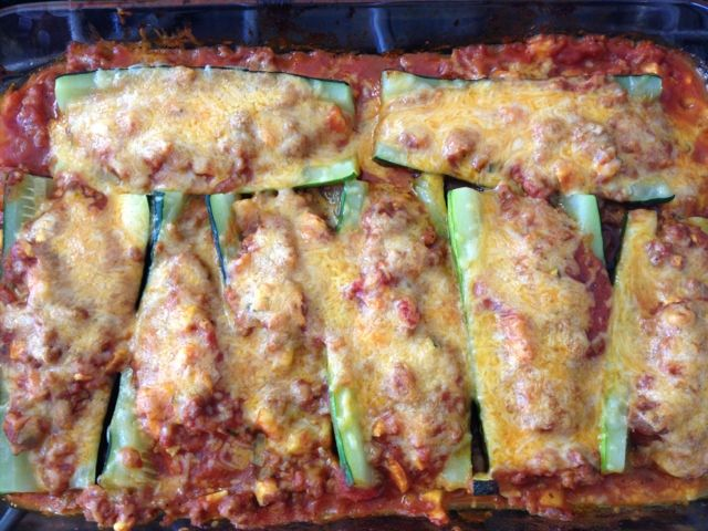 The Healthy Mama: Sausage Stuffed Zucchini Boats
