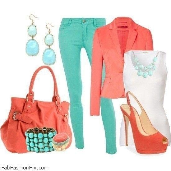 what to wear with a coral dress - Google Search