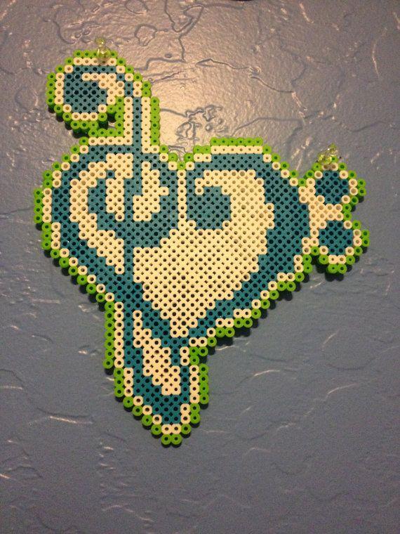 Bass Clef Treble Clef Heart perler beads by KcranceArt