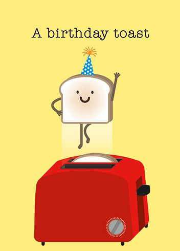 SIMPLE TOAST Birthday Card