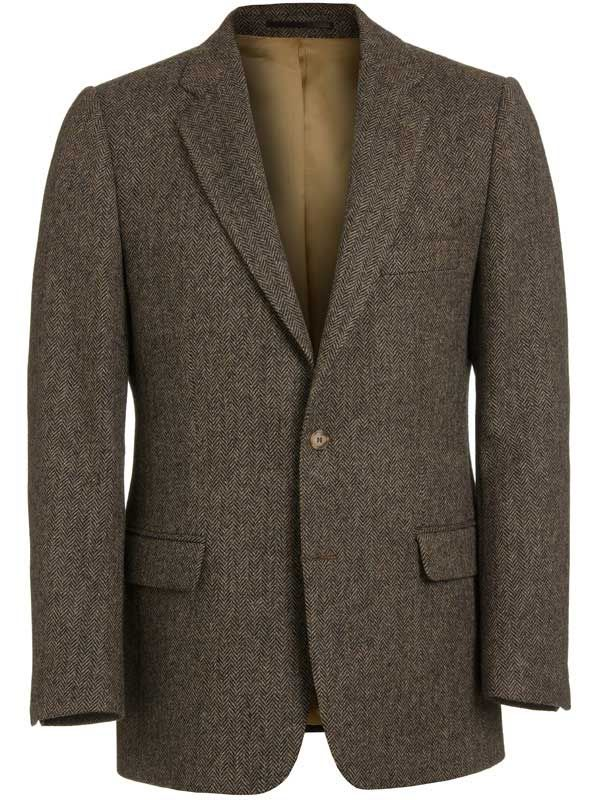 Mens brown tweed jacket for sale