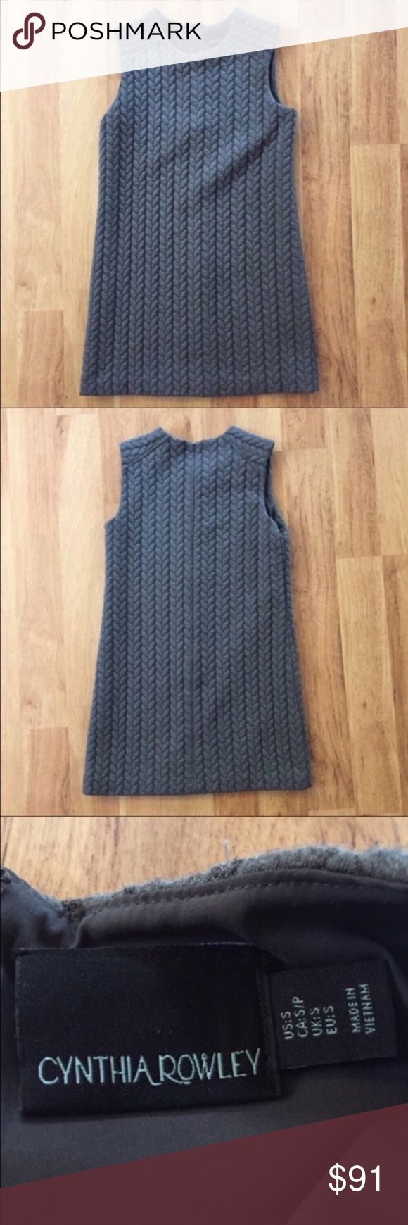 Cynthia Rowley Gray Braided Sweater Dress Size S ⚜️I love receiving offers through the offer button!⚜️ Good condition, as seen in pictures! Fast same or next day shipping!📨 Open to offers but I don't negotiate in the comments so please use the offer button😊 length from shoulder to hem is 32 inches. Over the bust left to right it's 13 inches. Check out the rest of my closet for more Adidas, Lululemon, Tory Burch, Urban Outfitters, Free People, Anthropologie, Victoria's Secret, Topshop…
