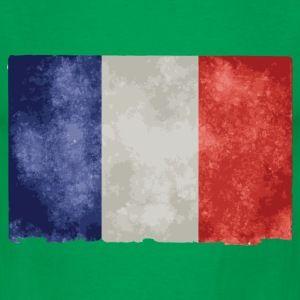 t shirt vert p homme drapeau français bleu blanc rouge - Tee shirt Homme