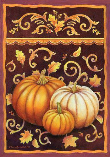 Custom Decor Flag - Fall Pumpkins Decorative Flag at Garden House Flags at GardenHouseFlags