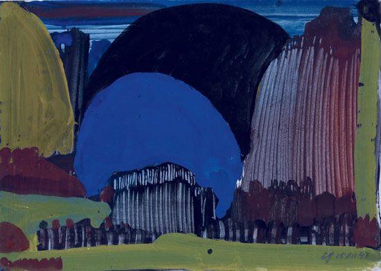 Eugen Gabritschevsky : sans titre, 1948, gouache sur papier, 21 cm x 29,5. Collection Chave, Vence