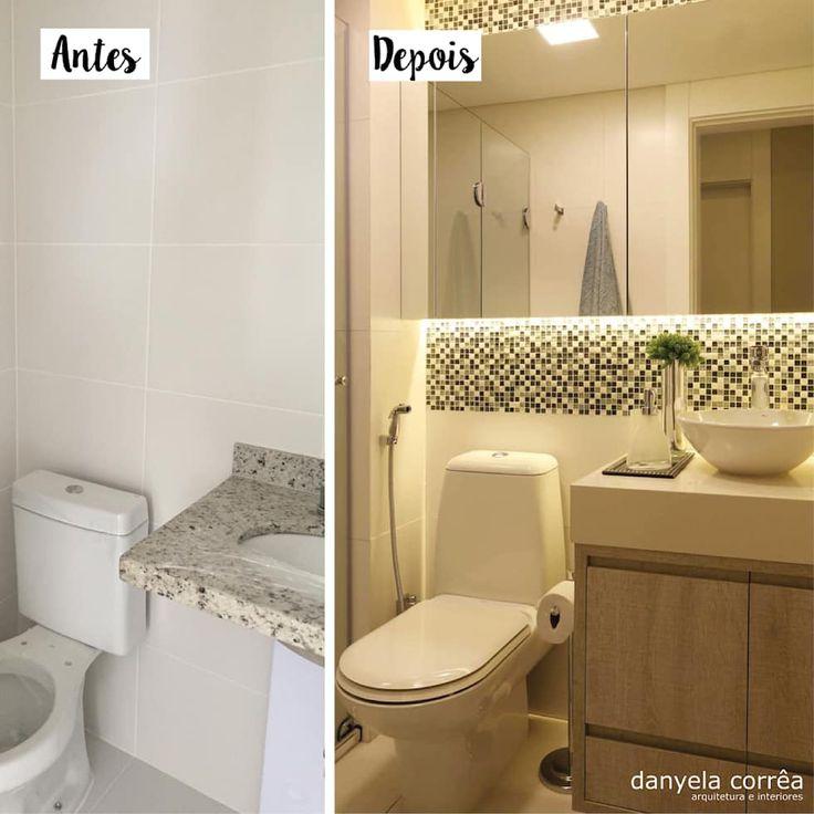 25+ melhores ideias de Armario de banheiro pequeno no Pinterest  Armario ban -> Banheiro Com Azulejo Imitando Pastilha