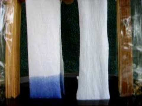 Bamboo fabric soak test - YouTube