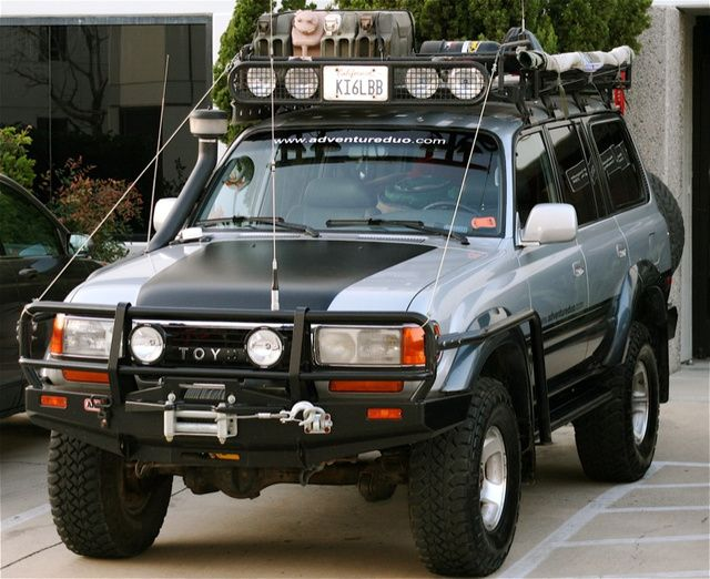 Toyota rigged for expedition.