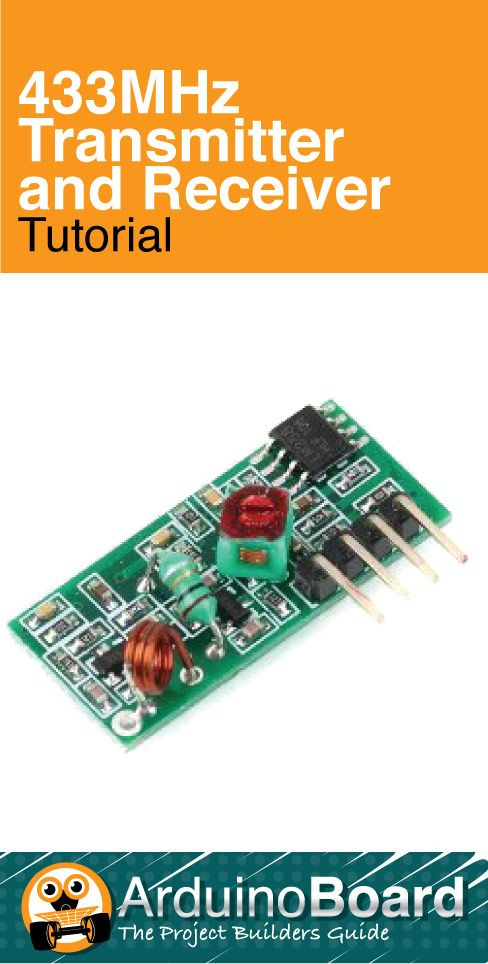 433MHz Transmitter and Receiver | Interfacing the common 433MHz radio modules to the Arduino - CLICK HERE for Tutorial https://arduino-board.com/tutorials/433mhz