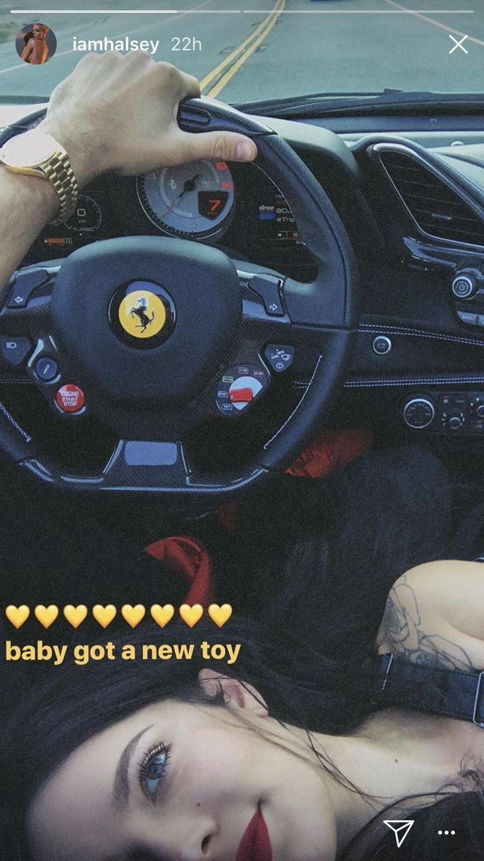 Halsey in G-Eazy new car #halsey