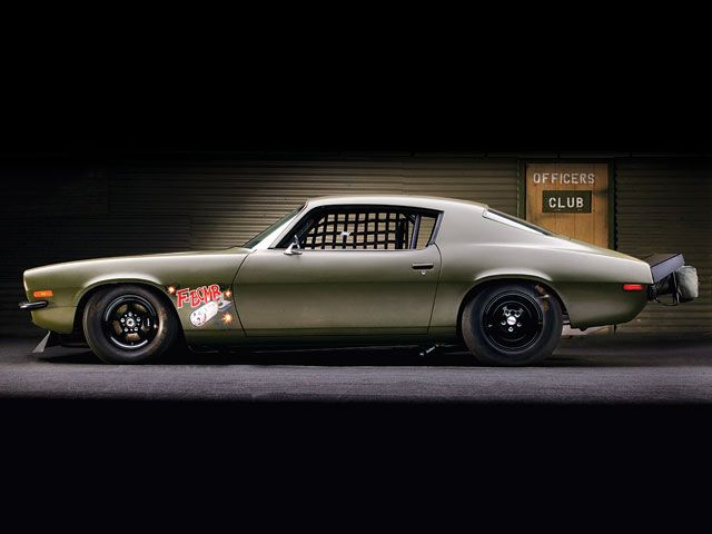 1973 Chevy Camaro, HOT ROD's F-Bomb, as seen in Fast and Furious. #1973 #Camaro #Fbomb #turbo #Freiburger #NelsonRacingEngines #noseart