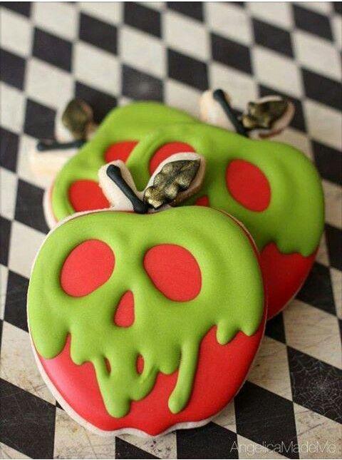 Poison apple cookies