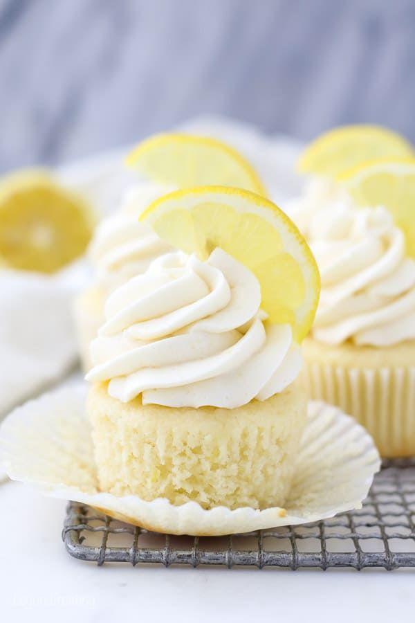Easy Lemon Cupcake Recipe Recipe In 2020 Lemon Cupcake Recipe Cupcake Recipes Savoury Cake
