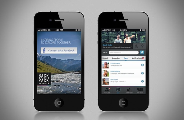 BackPack Network Mobile Interface