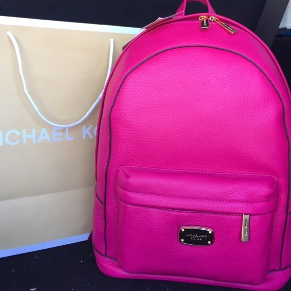 SOLD Michael Kor new with tags on backpack authent SOLD Michael Kors New with tags on backpack pink. Tags on. Authentic Michael Kors Bags Backpacks