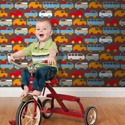 Kleurrijk retro kinderbehang - Lavmi