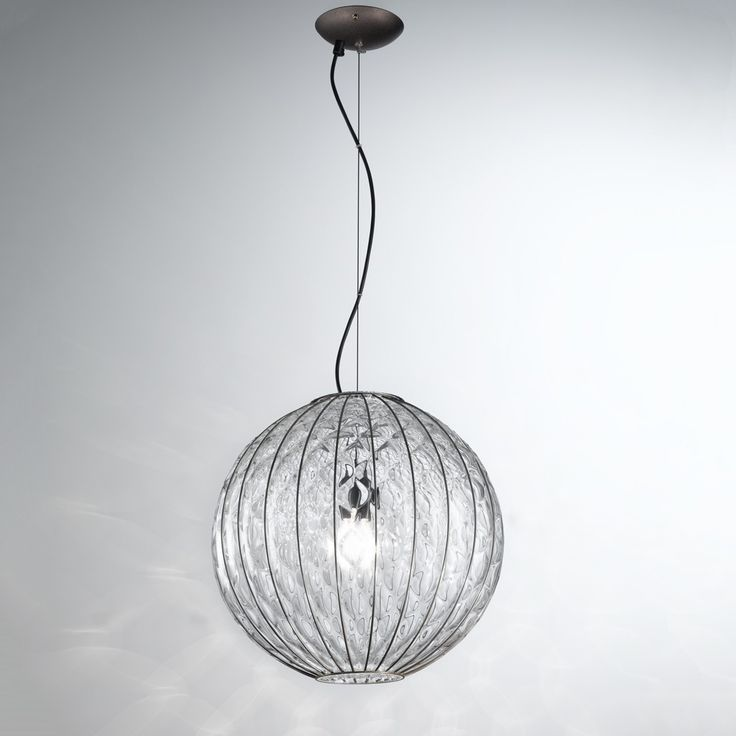 Baloon Murano Glass Pendant Light Made In Venice For Sale